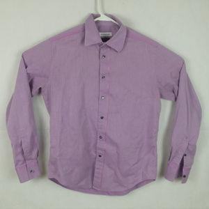 VERSCACE Men's Purple 41/16 Purple Dress Shirt